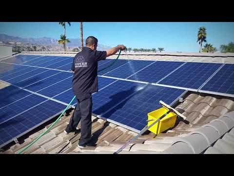 Solar Panel Cleaning extra add on $$$ The Superb Way