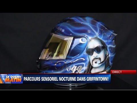 "LCN ""Quebec Matin"" x ARMORI STEELE | Casques sports de luxe or et diamants"