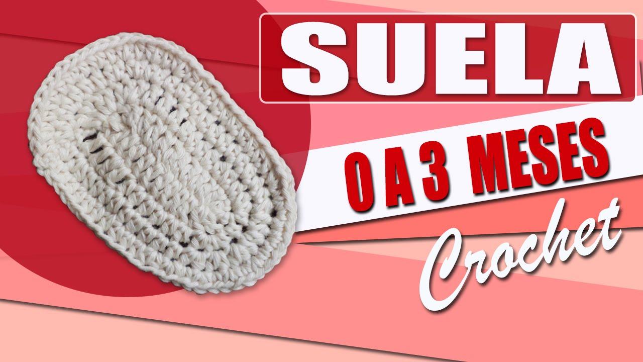 Suela Para Zapatos - Tejidos a Crochet Para Bebe de 0 a 3 Meses ...