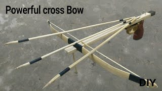 How to make a power full Cross Bow Using Bamboo
