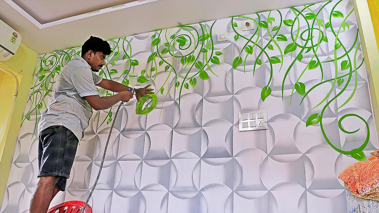 15d wall design spray paint hack