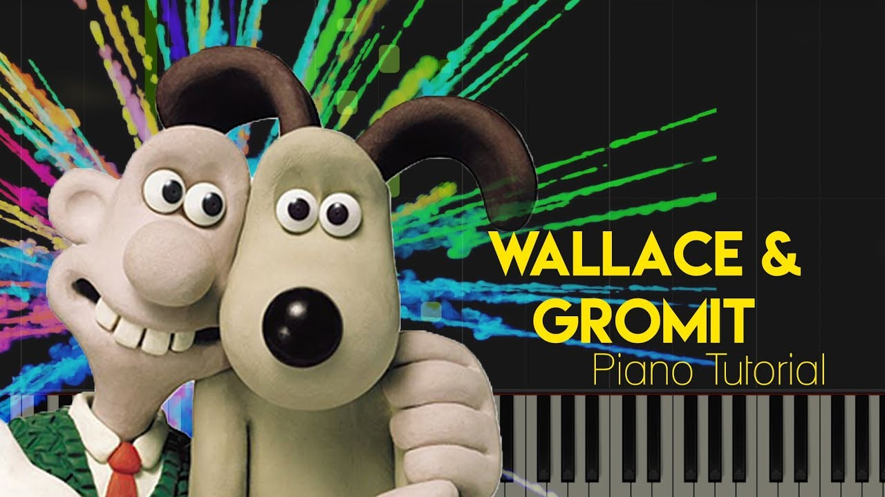 Wallace and Gromit Theme Song Piano tutorial - YouTube