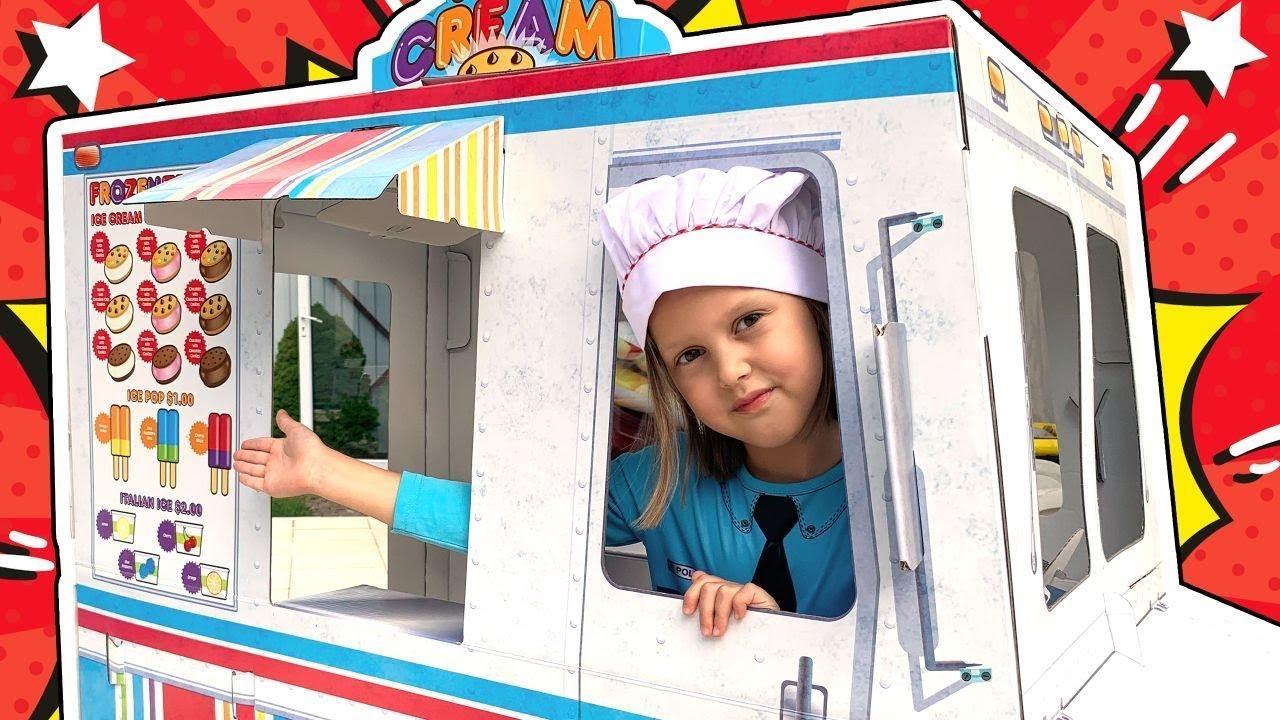 Амелька Как Малышка все время просит кушать у Мамы! Продавец Мороженого и Хот-Догов!