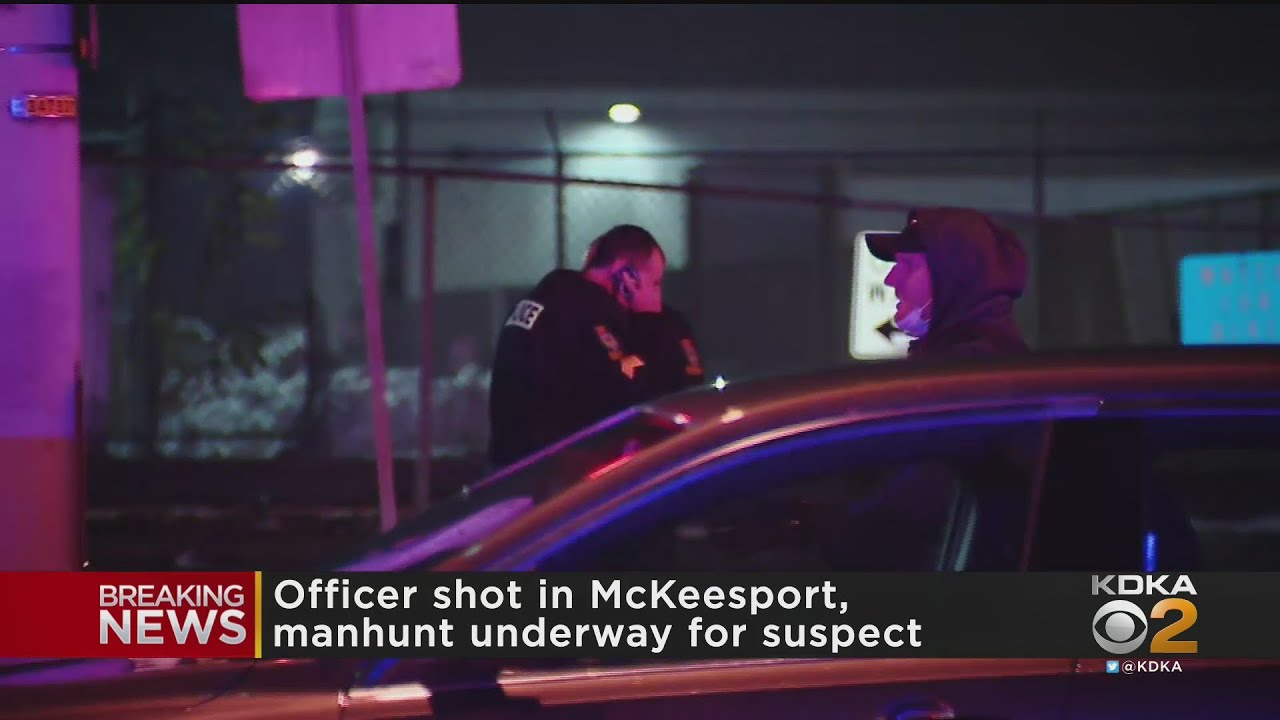 Manhunt Underway For Suspect Accused Of Shooting Officer