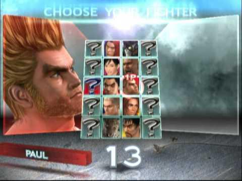 Tekken 4 Ps2 Character Select Youtube