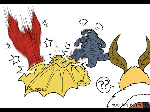Godzilla KOTM The Death of King Ghidorah by Godzilla and Rodan! (Godzilla Comic Dub)
