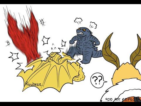 Godzilla KOTM The Death of King Ghidorah by Godzilla and Rodan! (Godzilla Comic Dub)