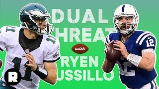 Bill Simmons, Kevin Clark, and Robert Mays on the Best QB in 2021 | Dual Threat With Ryen Russillo