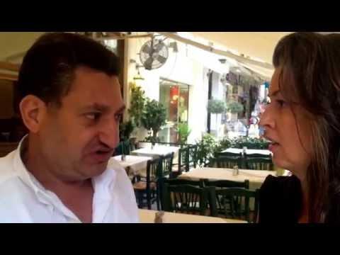 Restaurants empty of tourists in Plaka, Athens