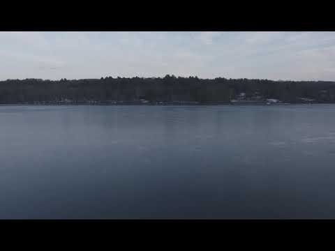 DJI Phantom 3 Standard Drone Frozen Lake Flyover