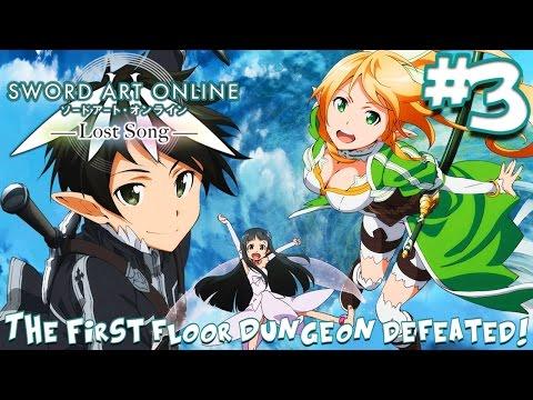 The First Floor Dungeon Defeated! | Sword Art Online: Lost Song - Episode 3