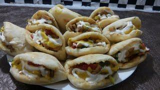 Pita bread mini chicken sandwich shawarma--  Ramadan Special