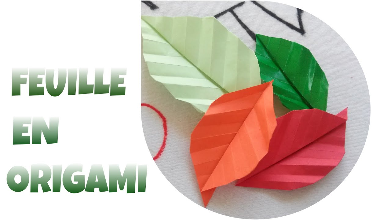 Origami facile comment faire une feuille en origami - Origami rose facile a faire ...