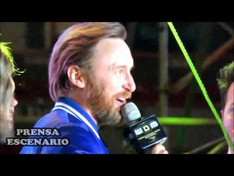 DAVID GUETTA -  RECIBE PREMIO -  WORLD DANCE MUSIC RADIO AWARDS -  MEXICO