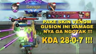 SKIN BARU GUSION GAMEPLAY SAVAGE BY MAUNGZY !!! - Mobile Legends
