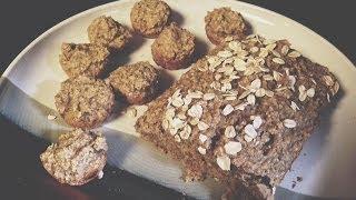 Healthy Vegan Banana Bread And Muffins