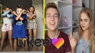 СЛАБОНЕРВНЫМ НЕ СМОТРЕТЬ😱 Реакция на видео в LIKE с парнем/The liza