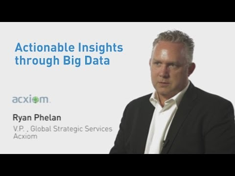 Ryan Phelan from Acxiom on Actionable Insights through Big Data
