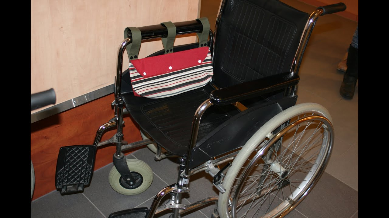 Rollstuhltasche nähen mit Schnittmuster - YouTube