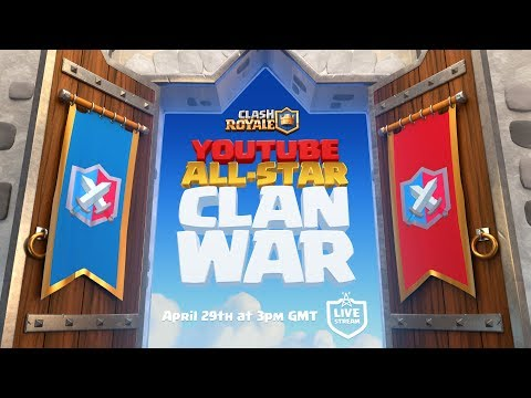 Clash Royale: YouTube All-Star 5v5 Clan War!