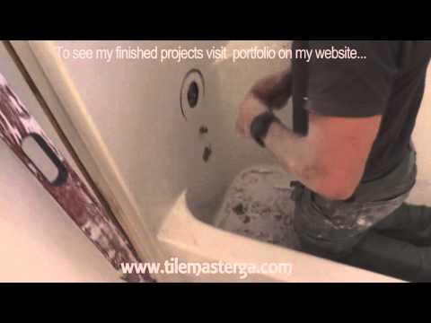 How to remove tub, fiberglass shower enclosure demo, tear-out Small bathroom remodel