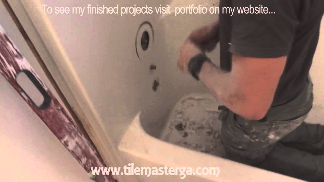 how to remove tub fiberglass shower enclosure demo tear out small bathroom remodel