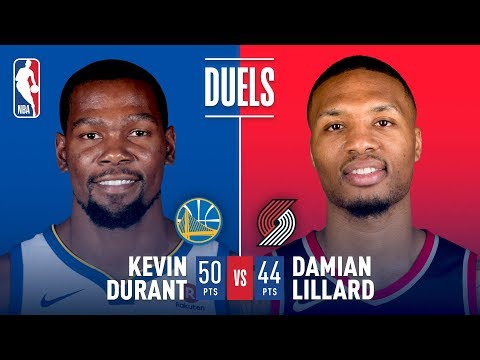Kevin Durant (50 Pts) and Damian Lillard (44 Pts) Duel in Portland | February 14, 2018