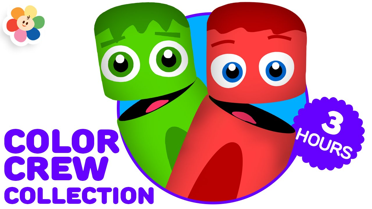 Color Crew Collection 3 Hours | Best Color Learning Videos for Kids | Teach Kids Colors | BabyFirst