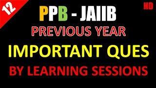 JAIIB - Principles & Practices of banking | PPB