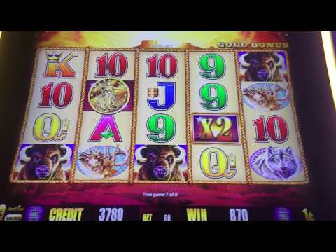 A Very Strong Buffalo Gold Bonus From Tunica On The Road To Vegas New Pokies 2018 Slot Machine Money
