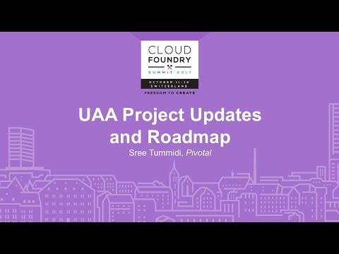 Uaa Project Updates And Roadmap
