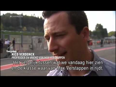 Max Verstappen bij het Belgische Programma Canvas Terzake