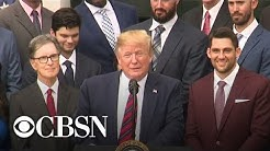 Trump hosts Boston Red Sox at White House