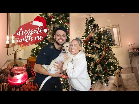 DECORATE MY CHRISTMAS TREE WITH ME 2018 | HOW TO - COSY + FESTIVE RED + GOLD