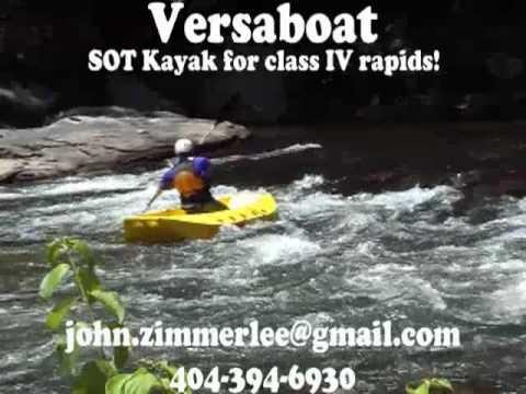 Versaboat sot kayak fishing kayak rescue boat youtube for Most stable fishing kayak