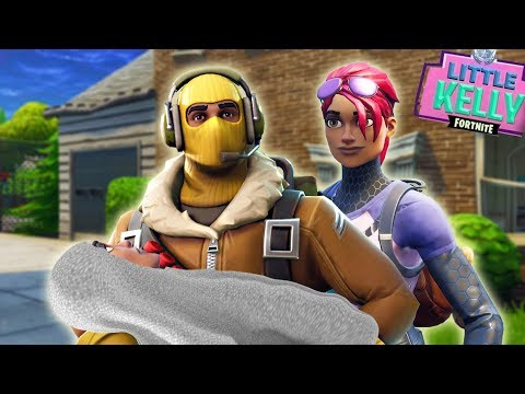 RAPTOR AND LITTLE KELLY ADOPT A NOOB - Fortnite Short Film