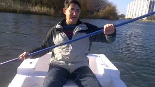 Лодка из пенопласта под номером 2, постройка и испытания
