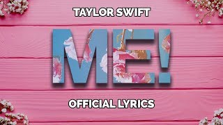 Gambar cover Taylor Swift - ME! (Lyrics) feat. Brendon Urie of Panic! At The Disco
