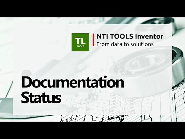Documentation Status - NTI TOOLS Inventor