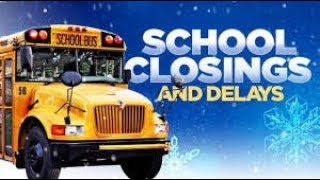 School closings and delays for Jan  14