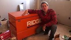 Ridgid Jobsite Tool Storage Box Review - Keeps Tools Safe!