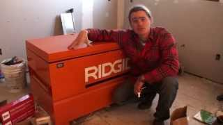 Ridgid Jobsite Tool Storage Box Review - Keeps Tools Safe!