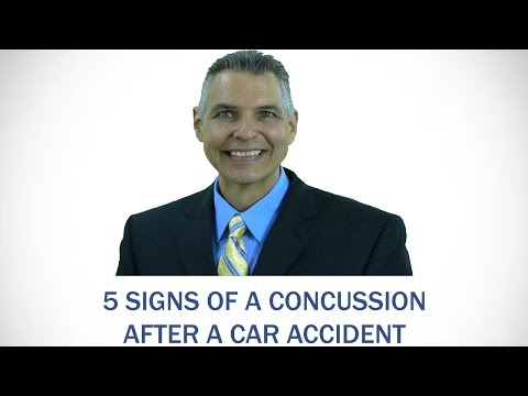 5 signs of a concussion after a car accident | Indiana auto accident lawyer