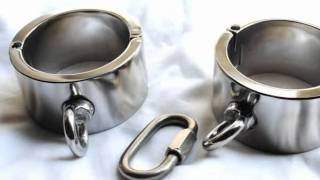 Bondage Gear & Fetish Stainless steel Heavy duty Cuffs with Shackles Restraints