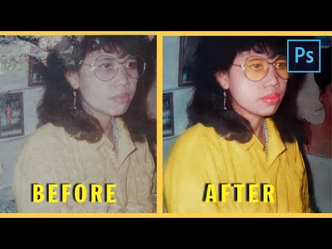 [Photoshop Tutorial] How to RESTORATION and RETOUCHING OLD PHOTO using PHOTOSHOP CC thumbnail