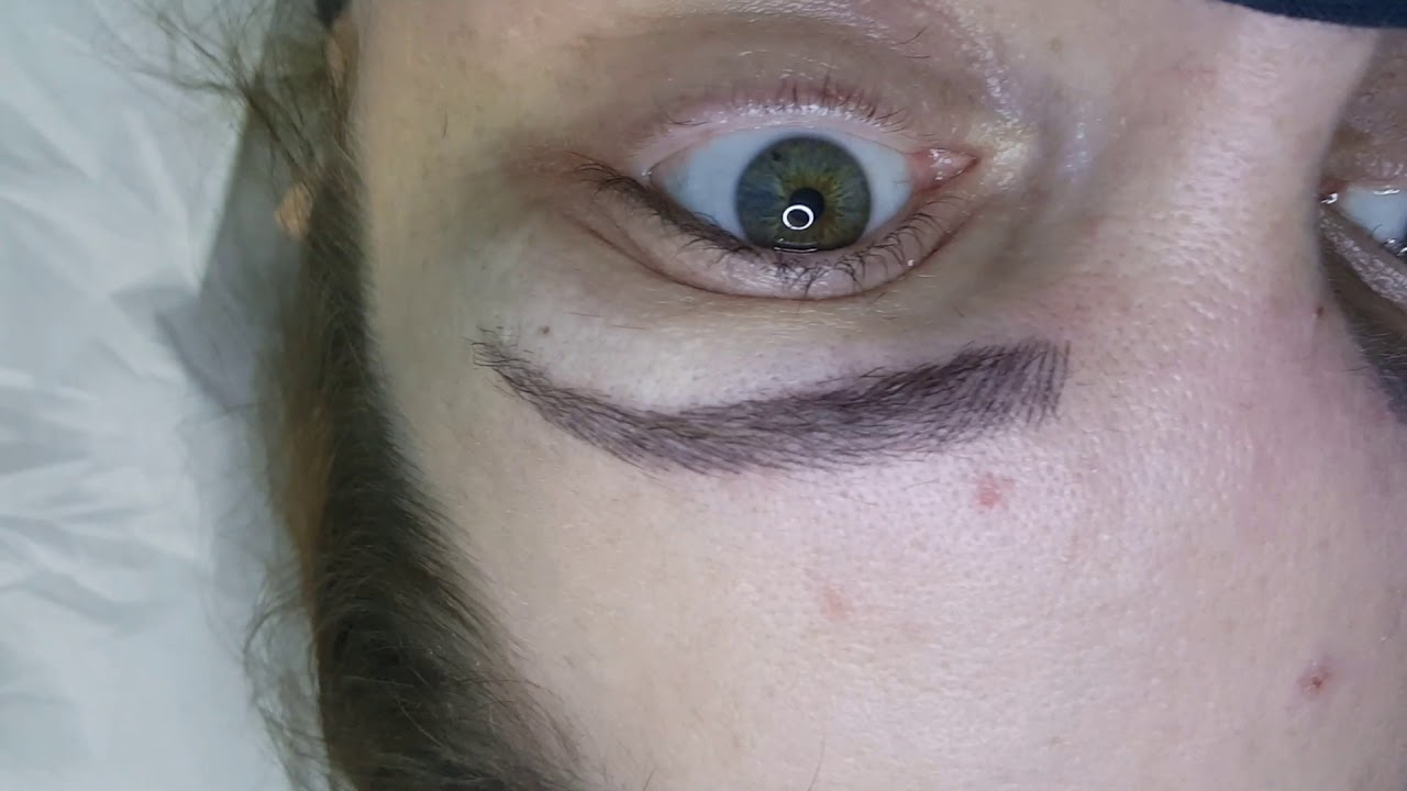 Healed Microblading Eyebrows after 1st session by El Truchan @ Perfect Definition