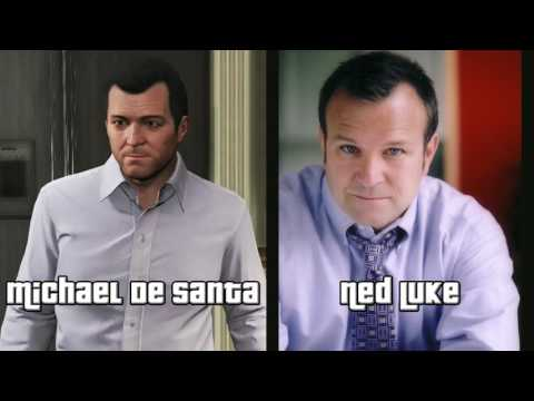 All GTA V Voice Actors Ned Luke,Steven Ogg,Shawn Fonteno,etc.