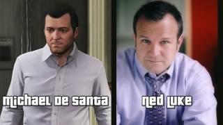 All GTA V Voice Actors Ned Luke Steven Ogg Shawn Fonteno Etc