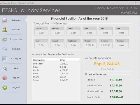 Laundry Management System (Visual Basic 2012)