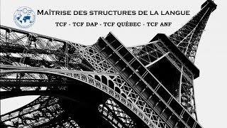 【TCF blanc 2016-2017】 Maîtrise des structures de la langue (TCF - TCF DAP - TCF ANF)